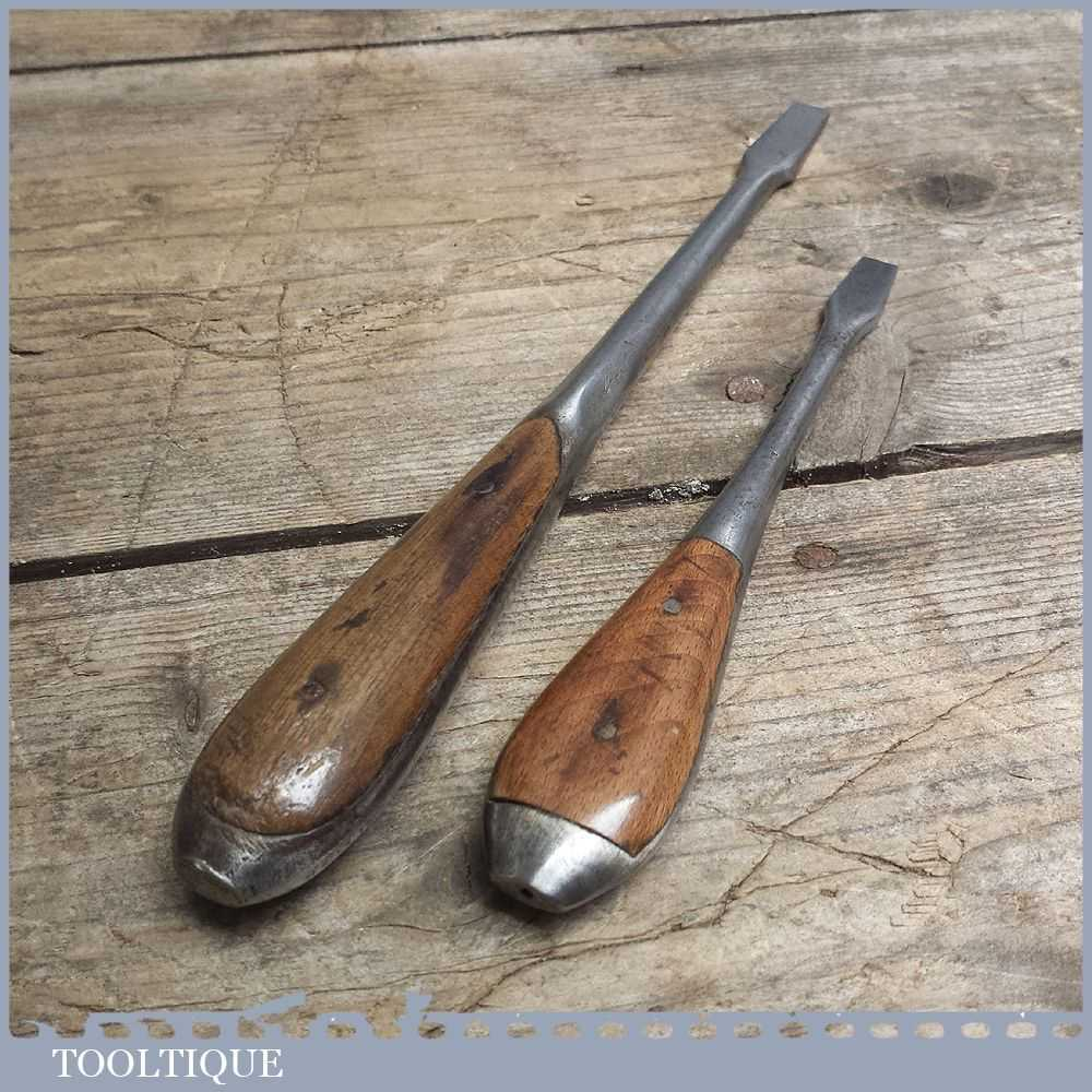 Vintage Perfect Pattern Screwdrivers Old Woodworking Tool