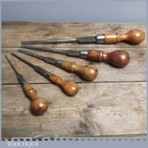 5 Good Variety Vintage Cabinet Makers Screwdrivers