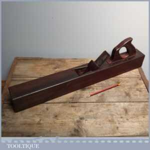 Antique 26 Solid Rosewood Plane - Rare Old Carpenters Jointer