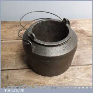 Clean Vintage Joiners 6 12 wide Cast Iron Glue Pot by Swain