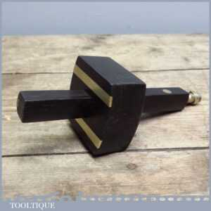 Crisp Vintage Ebony and Brass Screw Adjustment Mortice Gauge - Seen Little Use