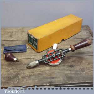 Good Boxed Stanley No 803 Eggbeater hand drill - Model Making Woodworking Tool