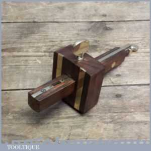 Good Rosewood & Brass Mortice Gauge - Woodworking Marking Tool