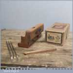Good Vintage Boxed Marples 'BB' Grooving Plane - With Three Irons