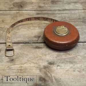 Good Vintage Chesterman 33ft Leather Bound Tape Measure