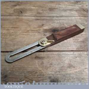 Good Vintage Quick Release Rosewood & Brass Bevel - Woodworking Tool
