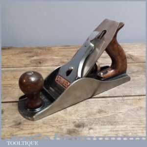 Good Vintage Stanley No 4 12 USA Smoothing Plane - Old Woodworking Tool