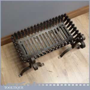 Good sized Vintage Fire Grate and Wrought Iron Dogs - 21 Fireplace Basket