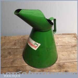 Large Vintage Agricastrol 5 Litre Oil Can Pourer - Good Collectable Old Item