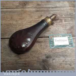 Rare Antique 4 drams Powder Flask for Flintlock