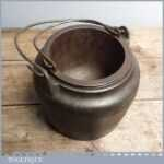 Rare Large Clean Vintage Joiners 8 wide Cast Iron Glue Pot by Clark