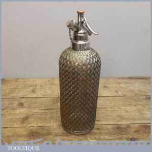 Sparklets London 1920's 30's Wire Mesh Antique Vintage Soda Siphon
