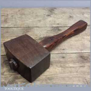 Superb Vintage Oak Carpenters Mallet - Old Wooden Hammer
