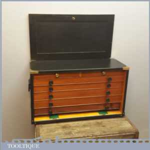 Superb Vintage Pattern Makers Tool Chest with 7 Drawers - Nice Storage Box