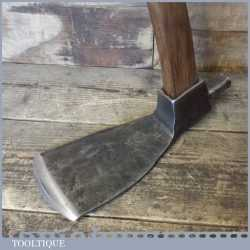 "Vintage carpenter's adze with 35"" hickory handle, in good used condition"