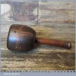 Vintage Beechwood Woodcarving Mallet - Fair Condition