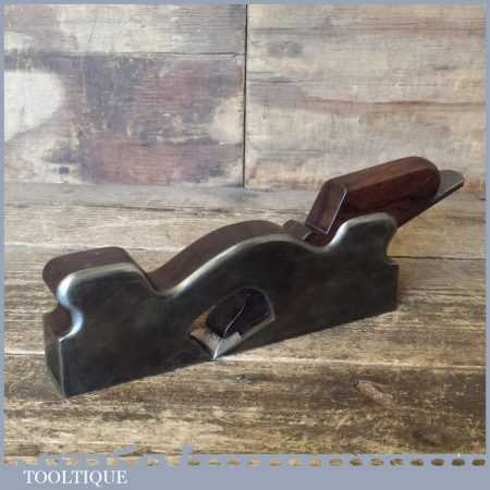 """Antique Spiers Of Ayr 1¼"""" Dovetailed Steel Shoulder Plane Rosewood Infill"""