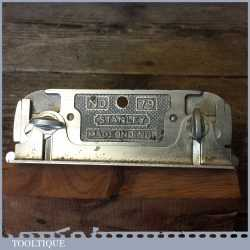 Vintage Stanley England No: 79 Side Rebate Plane With Guide - Good Condition