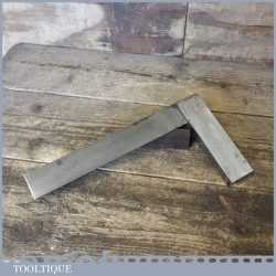 """Vintage 9"""" Moore & Wright No: 400 Engineer's Precision Set Square"""