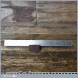 """Vintage 12"""" J Rabone & Sons No: 125 Imperial Metric Contraction Rule For Iron"""