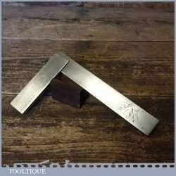 """Vintage Engineer's 6"""" Steel Try Square By H.M.M Ltd Made In England"""