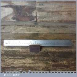 """Vintage 12"""" Chesterman No: 1464D Imperial & Metric Steel Contraction Ruler 1/77"""