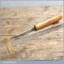 """Vintage 3/8"""" Wide Forged Steel Mortice Chisel By Moulson Brothers"""