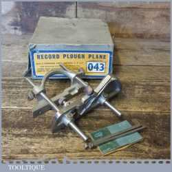 Vintage Record No: 043 Plough Plane 3 Cutters- Fully Refurbished