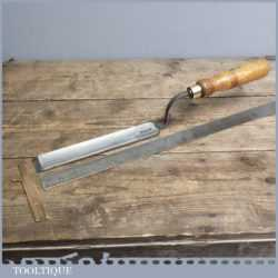 "Vintage Forged 1 1/4"" Steel Paring Chisel By Stormont of Sheffield"