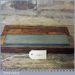 """Large Vintage 10"""" x 2"""" Natural Llyn Idwal Oil Stone Boxed - Good Condition"""