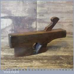 Antique Coachmakers Skew Mouthed Handled Beech Rounding Plane