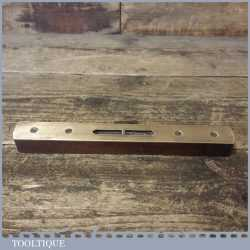 "Vintage No: 1621 Hockley Abbey 8"" beech Brass Spirit Level - Good Condition"