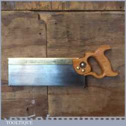 """Vintage No: 120 W Tyzack Sons 12"""" Brass Back Tenon Saw 14 TPI - Sharpened"""