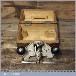 Vintage Boxed Stanley England No: 71 Hand Router Plane Complete - Boxed