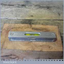"Vintage Rabone No: 1393 Engineers 4"" Metal Spirit Level - Good Condition"