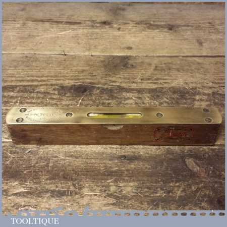 "Vintage Wilson Lovatt & Sons 8"" Mahogany Brass Spirit Level - Good Condition"