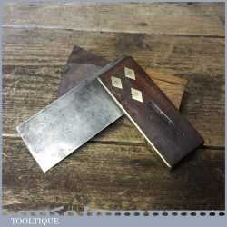 """Vintage Carpenters Rosewood Brass 3"""" Try Square - Good Condition"""