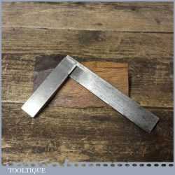 """Vintage 4"""" Moore & Wright Engineers Steel Square - Good Condition"""