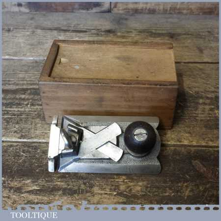 Rare Vintage Sargent No: 81 Side Rebate Plane Pat Dated 1914 - In Custom Box