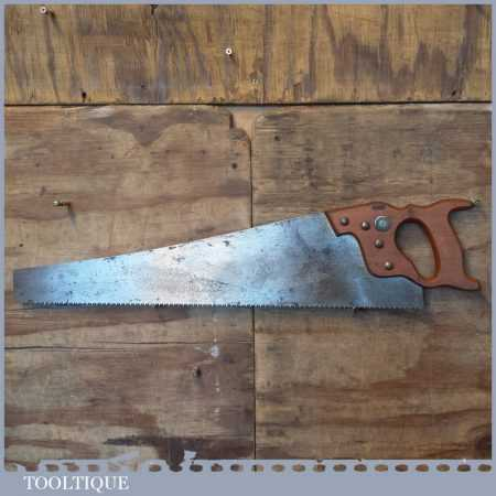 "Vintage Spear & Jackson 24"" Cross Cut Panel Handsaw 7 TPI - Sharpened"