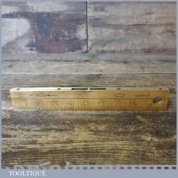 """Vintage No: 1372 J Rabone & Sons 10"""" Boxwood Spirit Level Calibrated In Inches"""