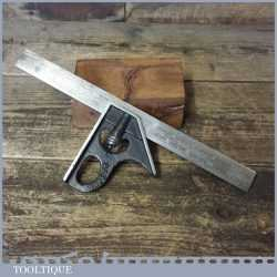 Vintage Rabone Chesterman No: 1901 cast steel adjustable combination square fully refurbished and in good used condition.