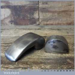 2 No: Vintage Panel Beaters Cast Steel Dollies - One By Sykes