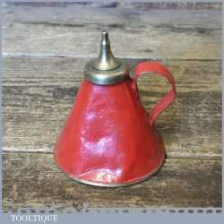 Vintage Thumb Push Oil Can Or Oiler - Good Condition