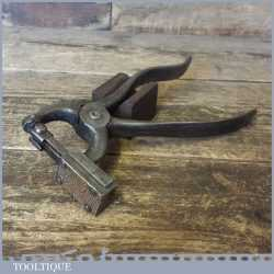 Rare Pair Antique Heaton-Peninsular USA Button Fastener Pliers - Good Condition