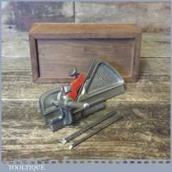 Vintage Marples M43 Plough Plane Complete With Cutters - Custom Box