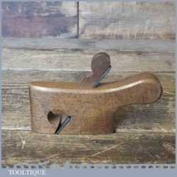 Antique Luthiers Miniature Beechwood Curved Rabbet Plane - Good Condition
