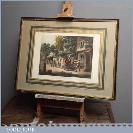 Antique 'Horses Going To The Fair' Framed Print by J.J.E Jones Engraved by W Fellows