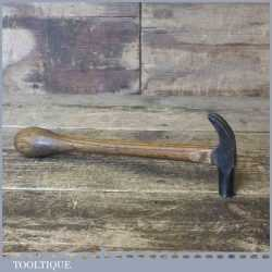 Vintage Small Claw Hammer With Bulbous Ash Handle - Good Condition