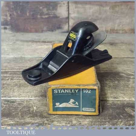 Vintage Boxed Stanley No: 102 Block Plane - Fully Refurbished